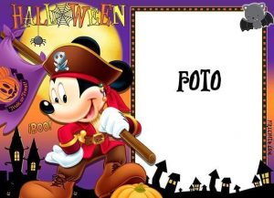 Frame for Halloween photo with Mickey Mouse 13x18 cm