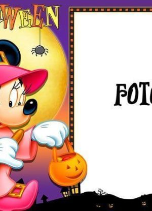 Halloween photo frame with Minnie Mouse 13x18 cm