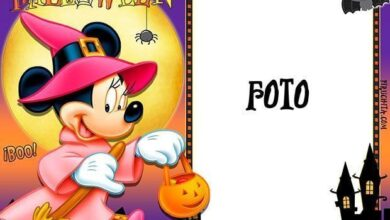 Photo of Marco para foto de Halloween con Minnie Mouse gratis