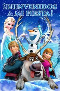 Welcome poster Frozen party