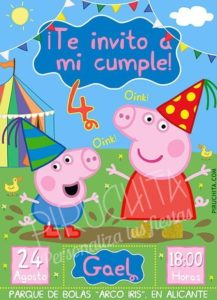 Personalized Premium Peppa Pig Birthday Invitation Print 1