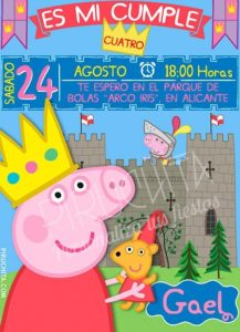 Personalized Premium Peppa Pig Birthday Invitation Print 2