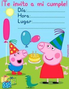 Invitación De Cumpleaños De Peppa Pig 2019 Gratis