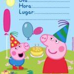 Invitacion Peppa Pig Piruchita