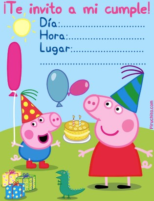 Photo of Invitación de cumpleaños Peppa Pig GRATIS imprimible