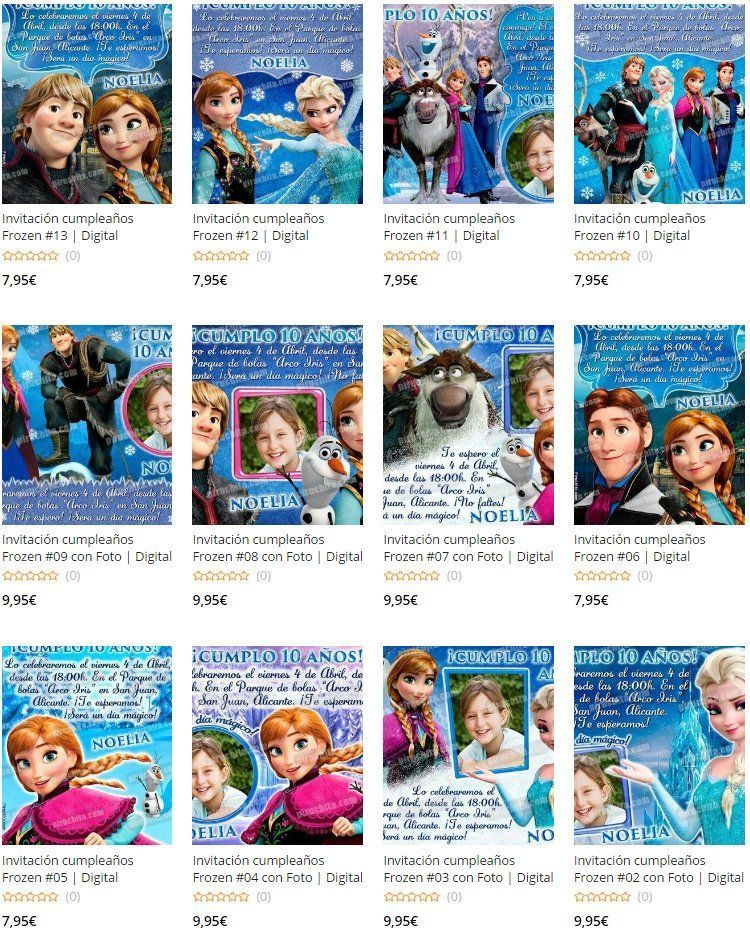Invitaciones de cumpleaños de Frozen Premium