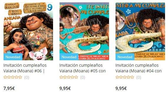 Vaiana / Moana personalized birthday invitation to print