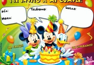Invitacion Mickey Amigos Piruchita 2