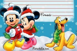 Letter to Santa from Mickey for free