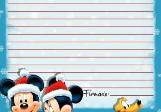 Carta Papa Noel Mickey Piruchita