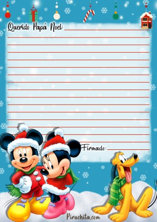 Photo of Carta Papá Noel de Mickey Mouse gratis