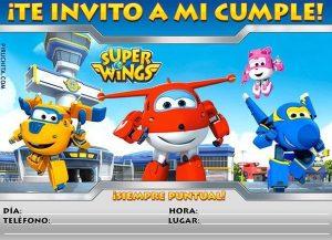 Invitación de cumpleaños Super Wings