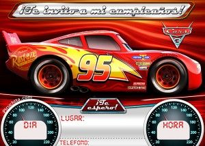 Cars 3 birthday invitation for free