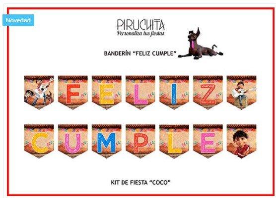Banderin de cumpleaños de Coco de Disney