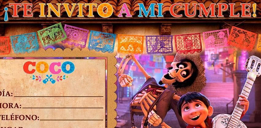 Invitaci 243 N De Cumplea 241 Os De Coco De Disney À�2018 Gratis】