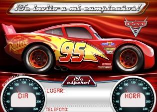 Invitacion Cars Gratis Piruchita