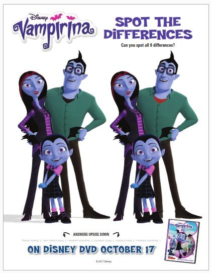 Game of looking for the differences of Vampirina
