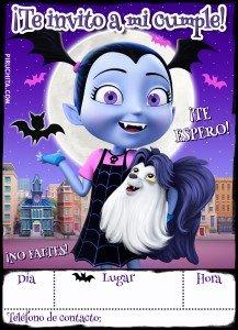 Invitación de cumpleaños de Vampirina de Disney GRATIS
