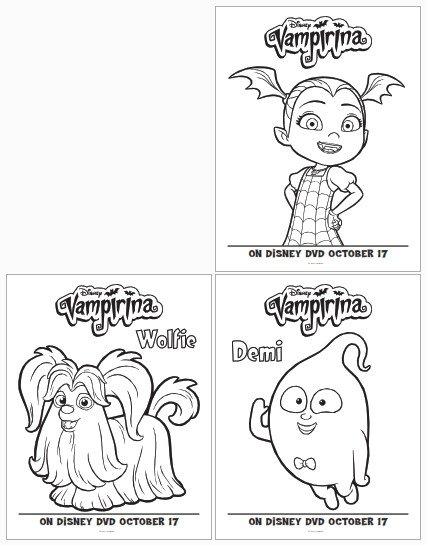 vampirina coloring pages with bat