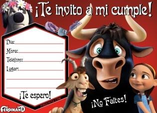 Invitacion Cumpleanos Ferdinand Gratis Piruchita