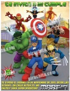 Premium Marvel Super Hero Birthday Invitation To Print 2