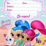 Invitacion Cumpleanos Shimmer Shine Gratis Piruchita