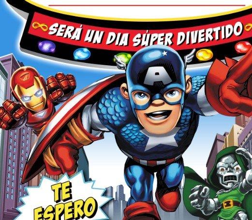 invitacin cumpleaos superhroes marvel 2018 gratis
