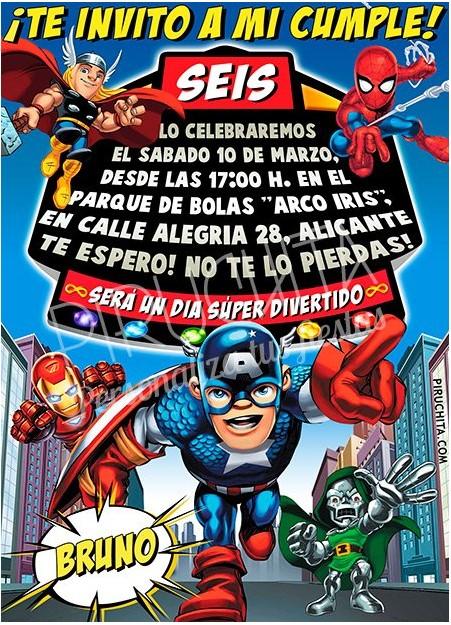 invitacion de cumpleaños de super heroes squad personalizada premium-1