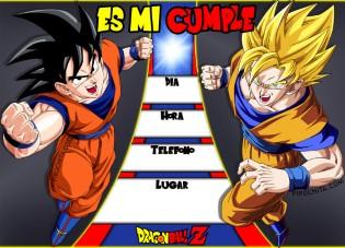 Invitacion Cumpleanos Dragonball Gratis Piruchita