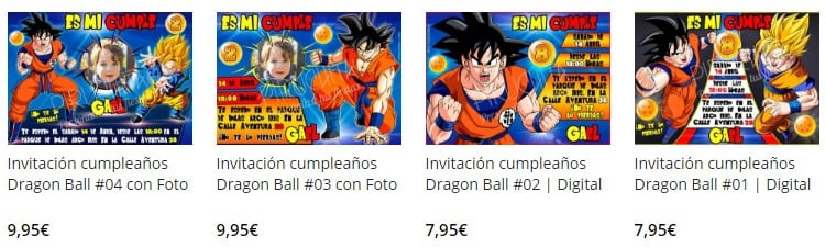 premium personalized dragon ball birthday invitation