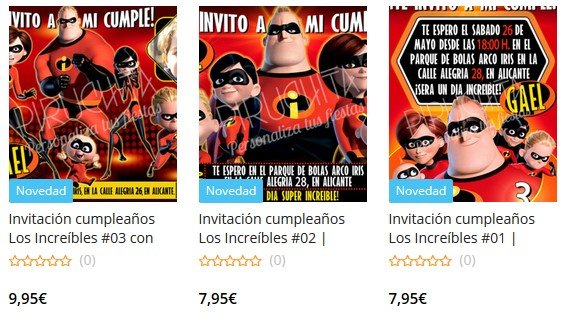 Customizable The Incredibles PREMIUM Birthday Invitations