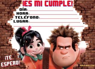 Invitacion Cumpleanos Ralph Gratis Piruchita