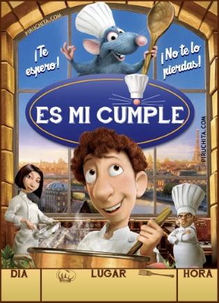 Invitacion Cumpleanos Ratatouille Gratis Piruchita