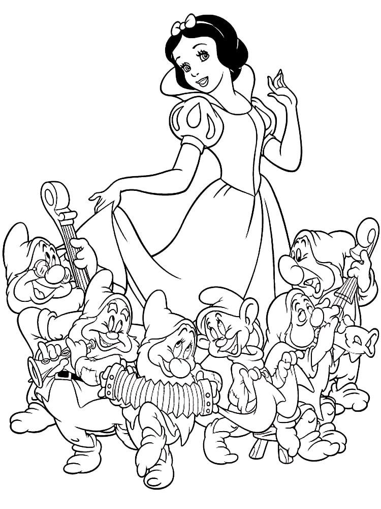 dibujos para colorear de blancanieves 4
