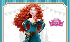 Brave Princess Disney Birthday Invitation for FREE