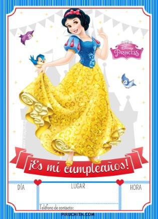 Invitacion Cumpleanos Blancanieves Gratis Piruchita