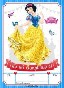Invitación de Cumpleaños de Blancanieves GRATIS