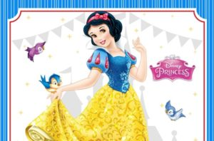 FREE Snow White Birthday Invitation