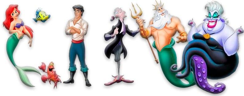 Personajes de La Sirenita