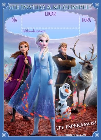 Invitacion Cumpleanos Frozen Ii Gratis Piruchita 490