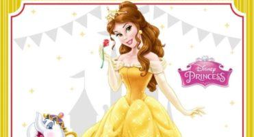 👸🏼 Invitación de Cumpleaños de Bella – Princesas Disney – GRATIS