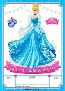 Invitación Cumpleaños De La Cenicienta 2019 Gratis