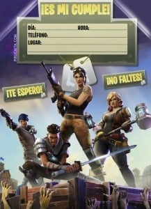 Free customizable Fortnite birthday invitation