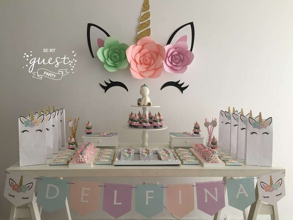 decoracion cumpleaños unicornios