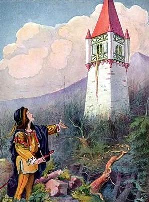 Ilustracion Rapunzel Por Johnny Gruelle