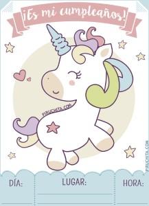 Invitación De Cumpleaños De Unicornios Gratis 2019