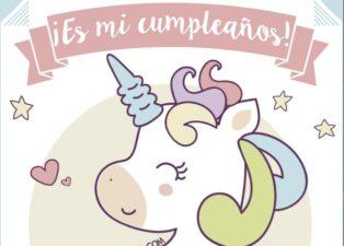 invitacion de cumpleaños de unicornios personalizable gratis