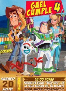 Piruchita Invitacion Toy Story 2 Tienda