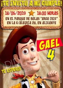 Piruchita Invitacion Toy Story 3 Woody