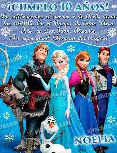 Invitacion De Cumpleaños De Frozen Personalizada 2.jpg